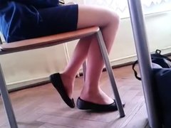 Candid Stunning Teen Shoeplay Feet in Nylons pt 3