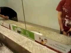 classic - exhib asian loves the attention in public bathroom
