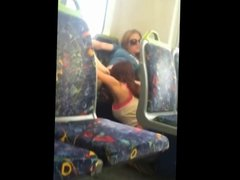 public sex on train