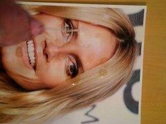 Heidi Klum facial tribute