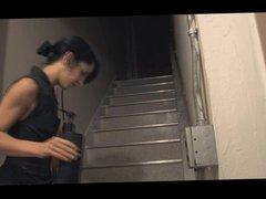Lesbian BDSM Slave Stairways to Enema