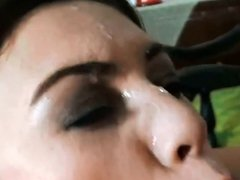 Beautiful face facial with slomo