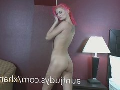 Pretty Pink-Haired Staci Simpson Masturbates for You