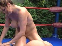 Lesbian Massage Wrestling