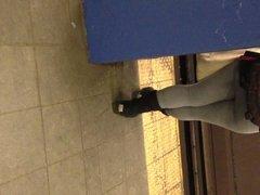 Candid Booty on Train Platform 2