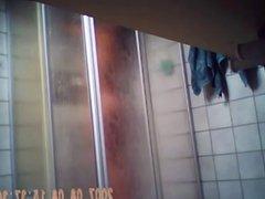hot skinny girl taking shower - hidden cam