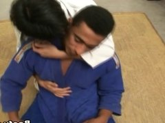 Karate instructor anal fuck his student