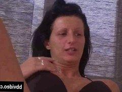 Busty brunette german milf masturbating