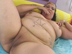 Big tattooed belly