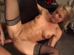 GERMAN MATURE TAKES IT UP ASS & PUSSY