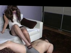 shoejob And Footjob Wearing Nylons