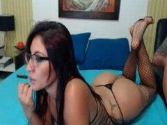 Latina ass on a bed