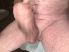 close up creamy cumshot and dripping sperm
