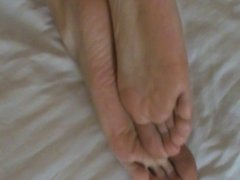 Sexy red toes and soles