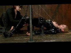 BDSM Latex Blonde Intense Orgasms (Zdonk)