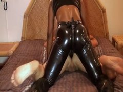 gas mask mistress pegging hard slave