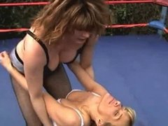Mature Bra n Panties Wrestling