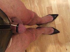 Estim Heavy dribbling onto my heels