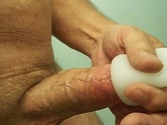 Wanking with new toy