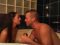 party couple fucking in bath