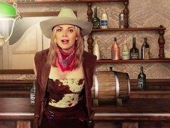 Nina Bott als sexy Cowgirl