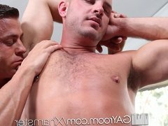 HD GayRoom - Johnathan gets hardcore massage by Tyler Saint