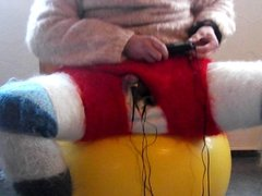 Fast e-stim hfo in my angora and mohair dress