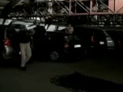 Slut wife is group fucked in a parking lot by strangers