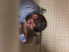 Caught jerking off in the men's room (part 2)