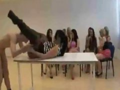 Sexy Babe Gets Pounded Infront of Group Of Women