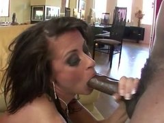 Sexy MILF babe screws a bunch of black dudes.