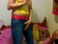 Teen Strip Show Nice Pussy and Tits