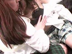 Japanese Lesbian Orgy