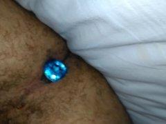 ASS hole hairy thigh legs plug soft cock