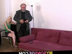 Stupid girl gets fucked by not her dad