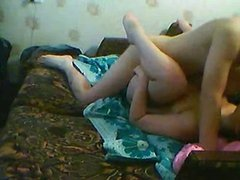 Naked Couple Having Sex On The Sofa