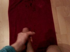 me 7,5 Inch (19 cm) Uncut Teen cums huge on a towel