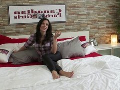Canadian Party Girls - Marianne in the bedroom set