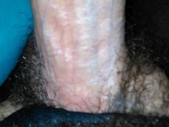 Stockings hairy thigh dick hard cock