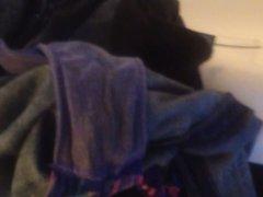 Quick cum in not my sister's dirty panties