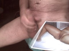 Tibute for hornycouple78 - a cumshot on a shaved pussy