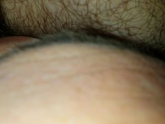 licking wife's hairy wet pussy