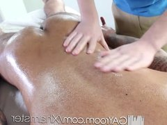HD GayRoom - Hot massage and sex session with tall hunk