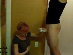 CFNM Handjob With Cotton Panties Until Cumshot on Shirt