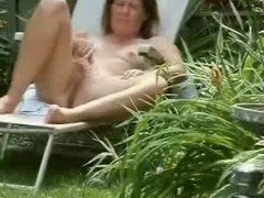 Spying my mum masturbating in court yard