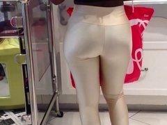 candid shiny leggings