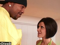 Nasty milf can't stay away from big black cocks