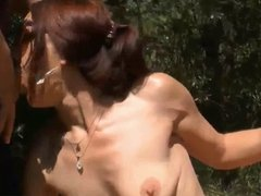 Wife sucking Cocks of Stranger's in Nature