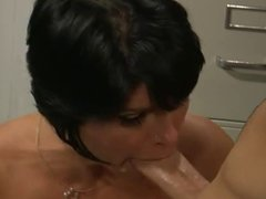 Hot Busty Brunette Cougar Gets It Good