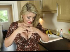 Down Blouse In The Kitchen